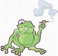 курить лягушкa1 Не курите под дождем!