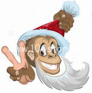 monkey От  Christmas'a до Рождества – зверский праздник