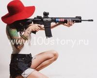 devushka s vintovkoj Снайперское украшение