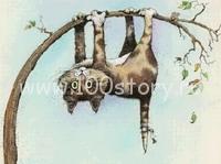 cat on tree Кот эквилибрист